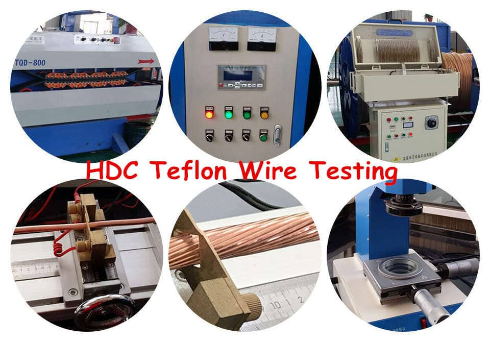 20 AWG Teflon insulated wire testing equipment
